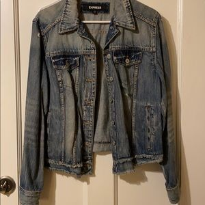 Distressed express Jean jacket